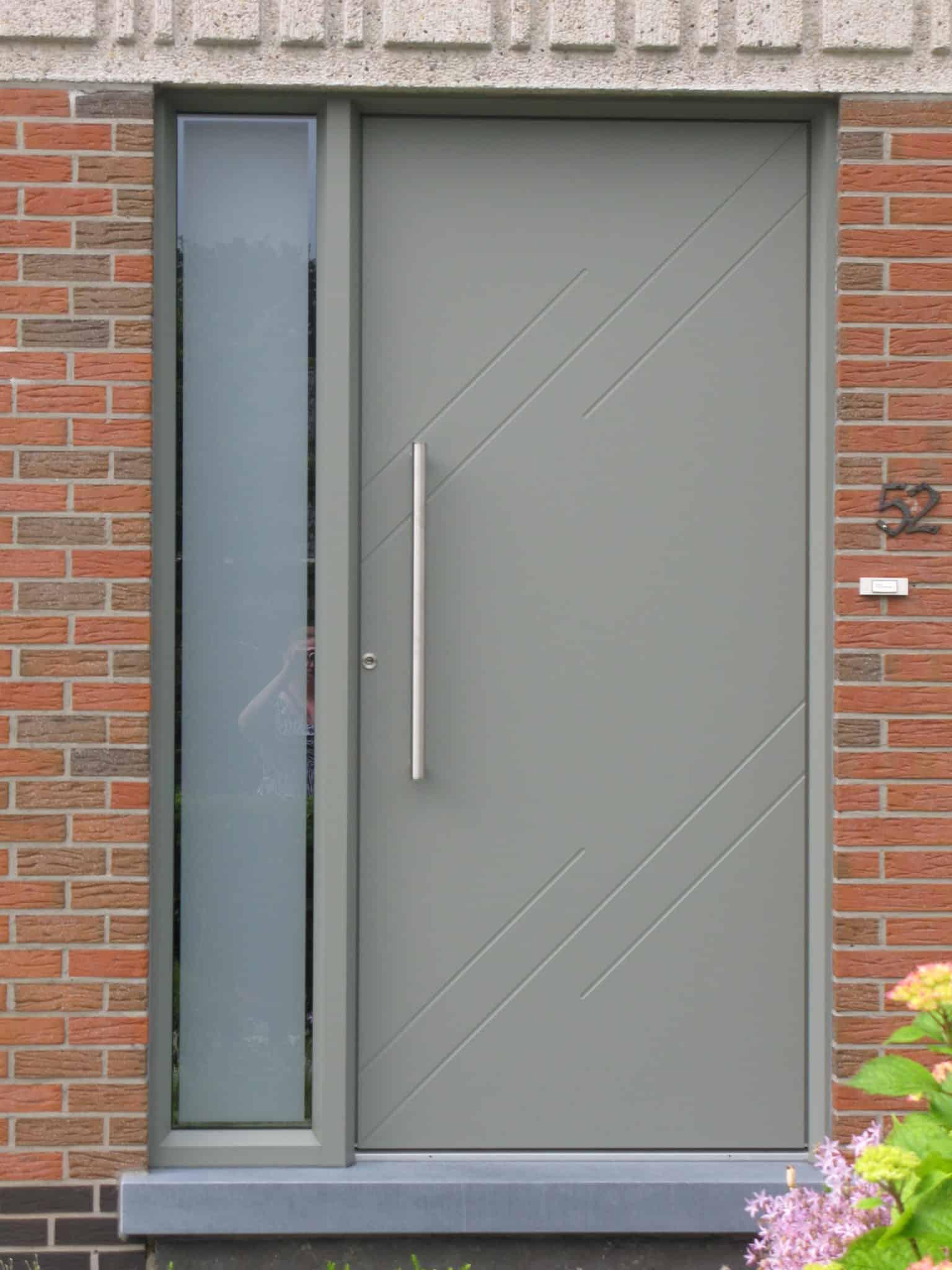 Tijdloze aluminium voordeur
