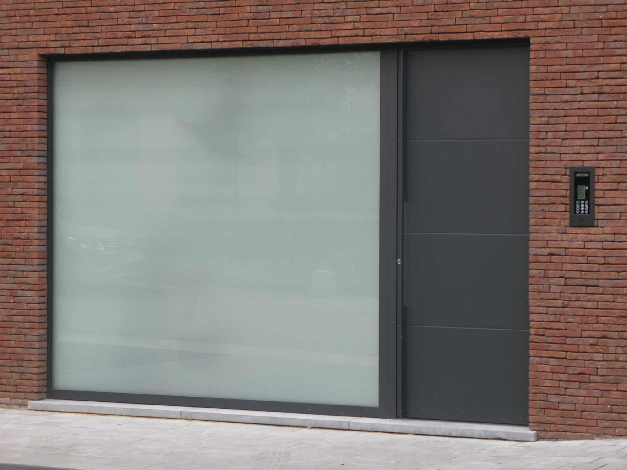 Moderne aluminium voordeur